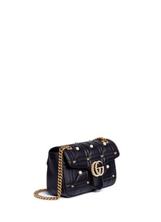 Gucci 'GG Marmont' embellished matelassé leather shoulder bag