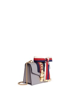 Gucci'Sylvie' mini chain web leather crossbody bag