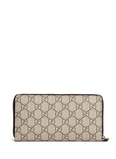 Gucci Tiger print GG Supreme canvas continental wallet