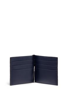Gucci Debossed logo leather money clip wallet