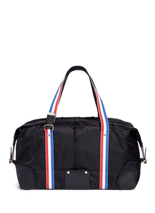 Detail View - Click To Enlarge - P.E Nation - 'Sports' grosgrain stripe duffle bag