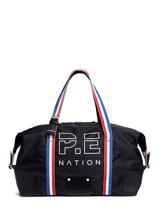 Main View - Click To Enlarge - P.E Nation - 'Sports' grosgrain stripe duffle bag