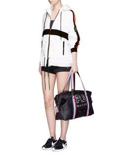 P.E Nation'Sports' grosgrain stripe duffle bag