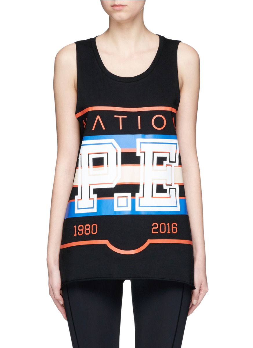 The Glide varsity print tank top by P.E Nation
