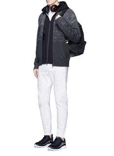 Adidas X Wings + HornsTriple stripe embroidered zip hoodie