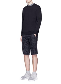 Adidas X Wings + Horns Triple stripe embroidered bonded sweatshirt