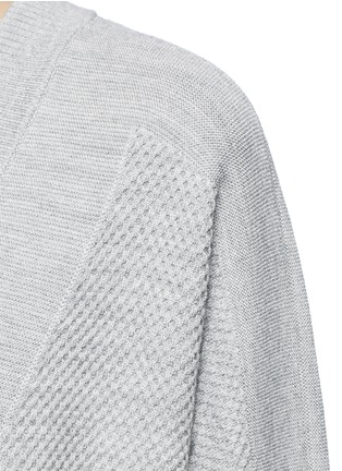 Detail View - Click To Enlarge - Vince - Wool-silk waffle knit boyfriend cardigan