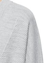Wool-silk waffle knit boyfriend cardigan