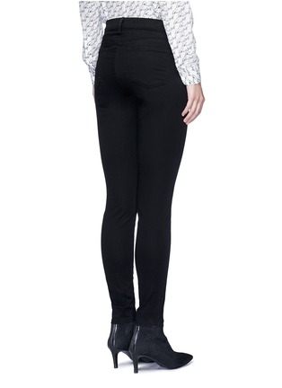 Back View - Click To Enlarge - J Brand - 'Miranda' mid rise zip sateen skinny pants