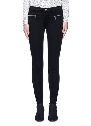 Main View - Click To Enlarge - J Brand - 'Miranda' mid rise zip sateen skinny pants