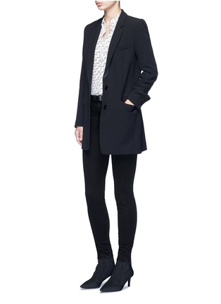 Figure View - Click To Enlarge - J Brand - 'Miranda' mid rise zip sateen skinny pants