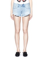 'WM5' cutoff denim shorts