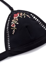'Sakura' floral embroidery bikini top
