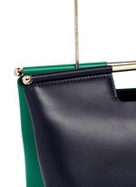 'Gret' colourblock leather satchel clutch