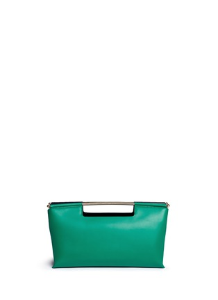 Back View - Click To Enlarge - DELPOZO - 'Gret' colourblock leather satchel clutch