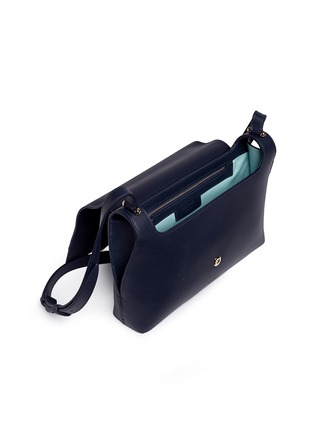 Detail View - Click To Enlarge - DELPOZO - 'Bo' floral appliqué leather shoulder bag