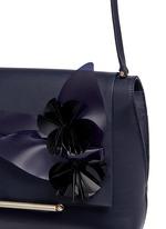 'Bo' floral appliqué leather shoulder bag