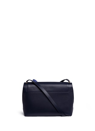 Back View - Click To Enlarge - DELPOZO - 'Bo' floral appliqué leather shoulder bag