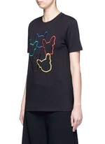 'Dog Ring' embroidered cotton jersey T-shirt