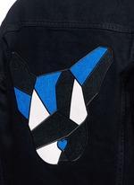 French bulldog appliqué denim jacket