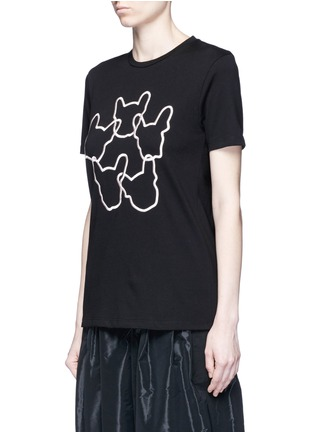Front View - Click To Enlarge - Etre Cecile  - 'Dog Ring' embroidered cotton jersey T-shirt