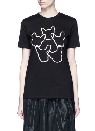 Main View - Click To Enlarge - Etre Cecile  - 'Dog Ring' embroidered cotton jersey T-shirt