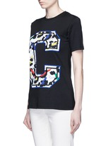 'Big C' abstract leopard print embroidery T-shirt