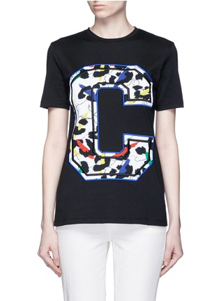 Main View - Click To Enlarge - Etre Cecile  - 'Big C' abstract leopard print embroidery T-shirt
