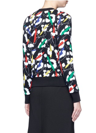 Back View - Click To Enlarge - Etre Cecile  - 'Leopard' brushstroke print cotton sweatshirt