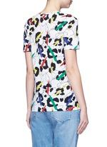 'Leopard' brushstroke print jersey T-shirt