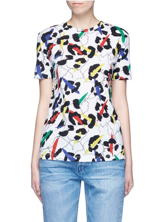 Main View - Click To Enlarge - Etre Cecile  - 'Leopard' brushstroke print jersey T-shirt