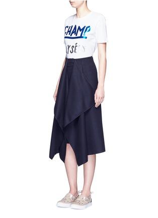 Figure View - Click To Enlarge - Etre Cecile  - 'Champ Élysées' foil slogan print T-shirt
