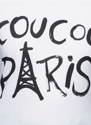 Detail View - Click To Enlarge - Etre Cecile  - 'Coucou Paris' slogan print jersey T-shirt