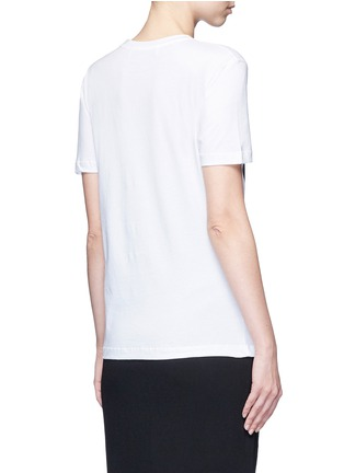 Back View - Click To Enlarge - Etre Cecile  - 'Coucou Paris' slogan print jersey T-shirt