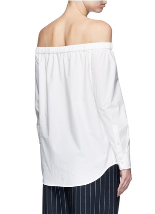 Back View - Click To Enlarge - Equipment - 'Gretchen' off-shoulder cotton poplin shirt