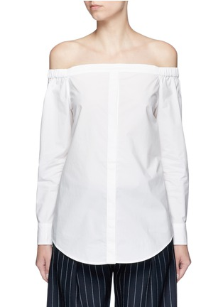 Main View - Click To Enlarge - Equipment - 'Gretchen' off-shoulder cotton poplin shirt