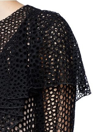 Detail View - Click To Enlarge - Lanvin - Eyelet broderie anglaise ruffle top