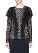 Eyelet broderie anglaise ruffle top