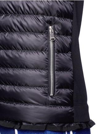 细节 - 点击放大 - MONCLER - 弹力衣袖羽绒夹克