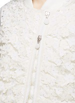 花卉缀饰羽绒夹克