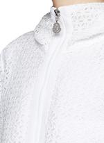 'Rombou' sangallo lace A-line hood jacket
