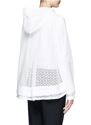 Back View - Click To Enlarge - Moncler - 'Rombou' sangallo lace A-line hood jacket