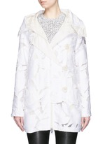 'Pistache' floral fil coupé jacket