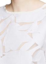 'Maglia' drawcord hem floral fil coupé organza T-shirt