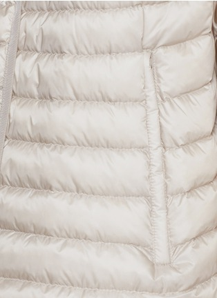 Detail View - Click To Enlarge - Moncler - 'Chinchard' hooded down cape jacket