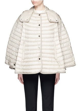 Main View - Click To Enlarge - Moncler - 'Chinchard' hooded down cape jacket