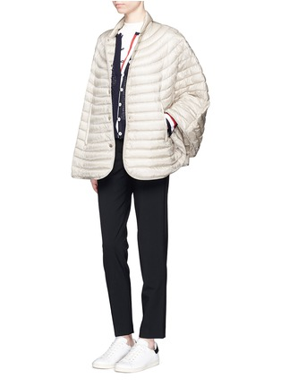 Figure View - Click To Enlarge - Moncler - 'Chinchard' hooded down cape jacket