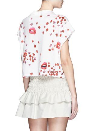 背面 - 点击放大 - GIAMBA - 嘴唇甲虫图案短款T恤