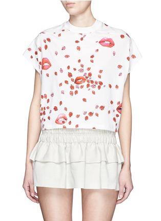 首图 - 点击放大 - GIAMBA - 嘴唇甲虫图案短款T恤