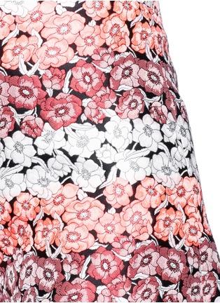 细节 - 点击放大 - GIAMBA - 拼色花卉提花短裤